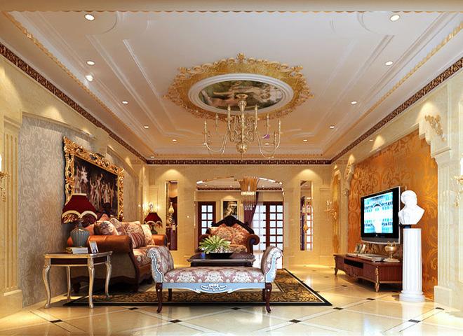 253平米金碧辉煌的欧式豪宅图片