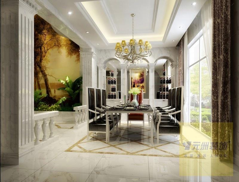 元洲装饰亿城燕西华府欧式新奢华风格家装样板间案例