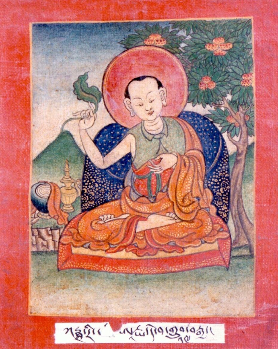 """十八、咕噜嘎拿力巴(圣天菩萨、提婆)传   这是咕噜嘎拿力巴的故事。   大师是属于四生中的化生,他是在巴那烂陀寺出家,成为寺庙中的住持,弟子有十万人,但是始终未能生出证悟。他听说龙树菩萨住在印度南方,立刻心中生出了不共的信心和渴望,就上路出发往南方了。      他来到了一个大海边,文殊菩萨化成一个渔夫坐在那里,大师看见了就向他行礼献了曼达,并告诉渔夫:""""我要到南方去见龙树菩萨,请您指引我道路。""""      渔人回答:""""在那边的茂密森林中,他在作""""性命心"""
