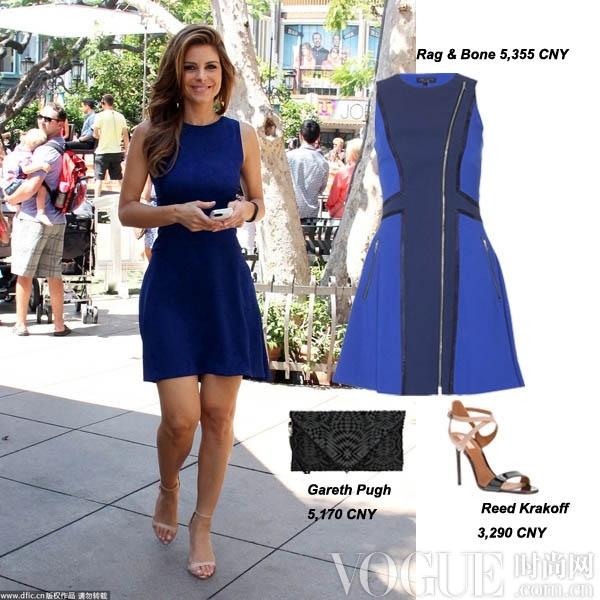明星示范深蓝色的时髦风貌 - VOGUE时尚网 - VOGUE时尚网