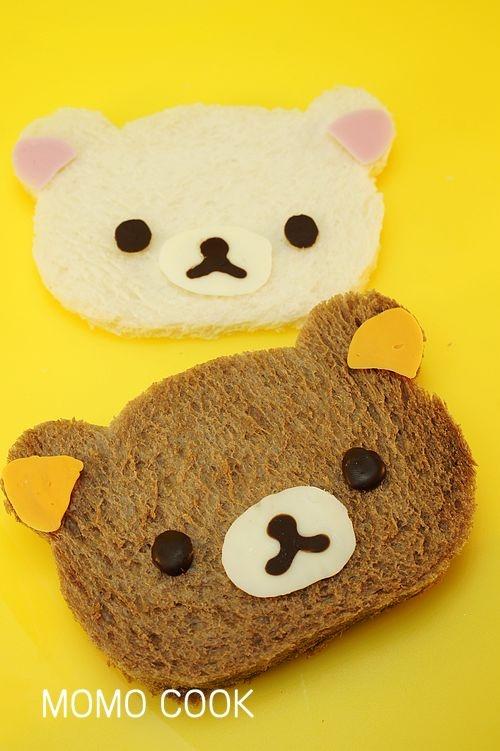 可爱的早餐---轻松小熊面包片