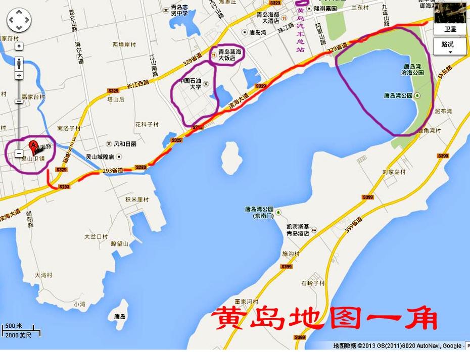 青岛即墨灵山地图