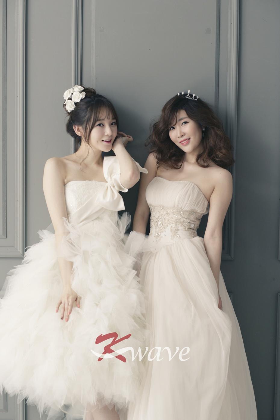 韩国明星婚纱照 - davichi的婚纱照
