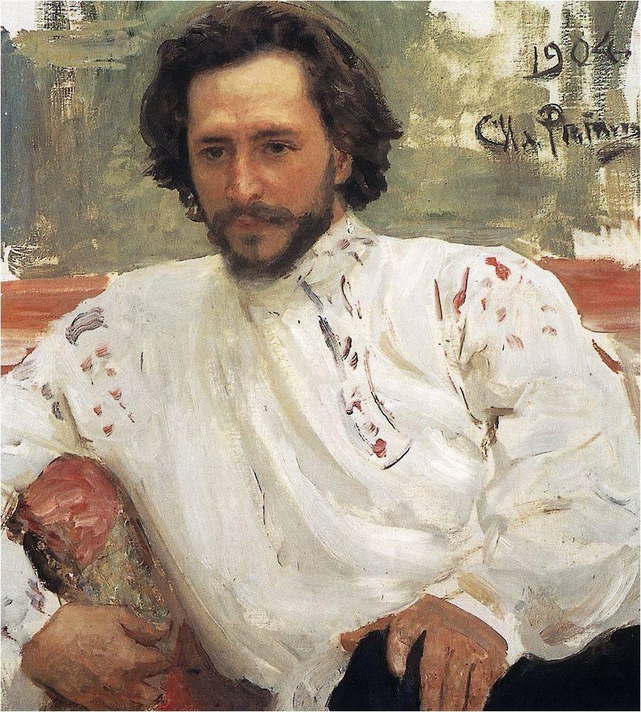 我的俄罗斯-小说_列宾画的俄国小说家,剧作家列昂尼德
