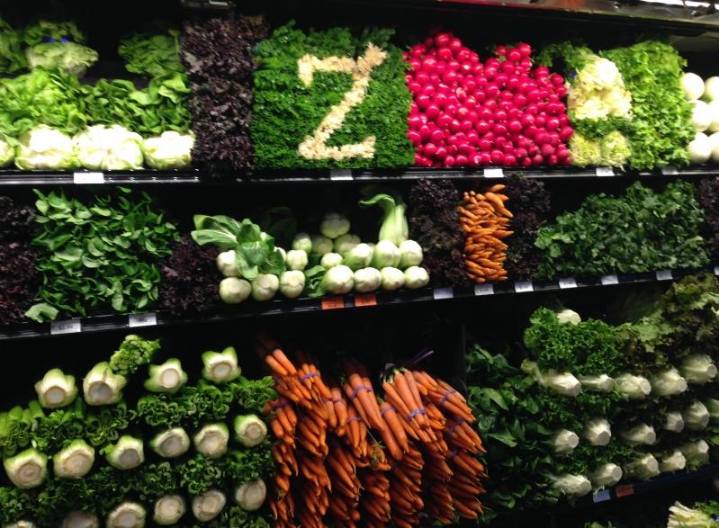 美国的超市里,蔬菜水果是这样陈列的图片