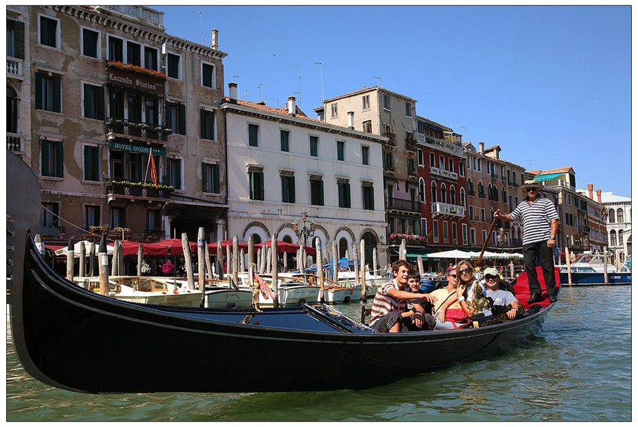 欧洲掠影—意大利威尼斯:水城的桥、船、道 - H哥 - H哥的博客
