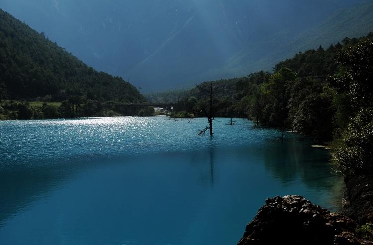 丽江之旅:媲美九寨沟的大美蓝月谷 - 余昌国 - 我的博客