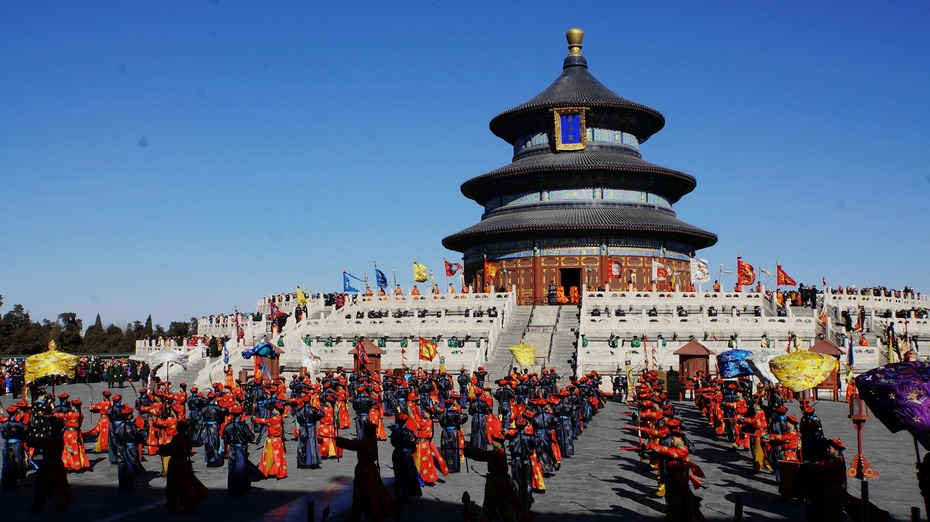 实拍北京天坛皇帝祭天表演 - 余昌国 - 我的博客