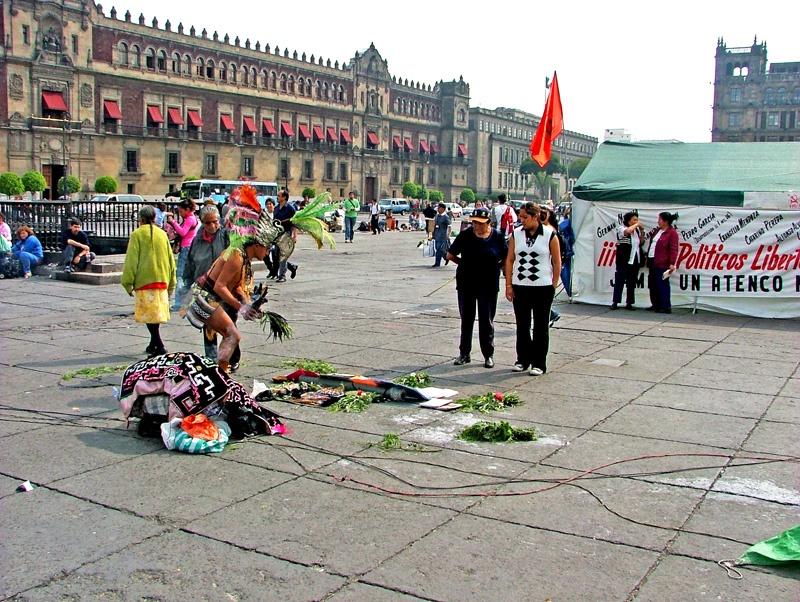 参观墨西哥总统府 - sihaiyunyou - sihaiyunyou的博客