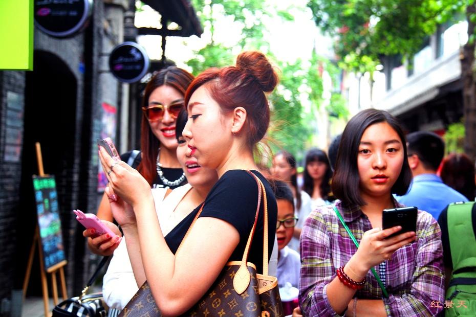 街头美女 曾经春熙路的美女指数似乎转移