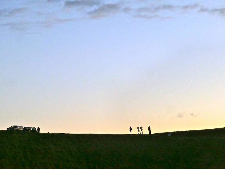 奥克兰伊甸山上的美妙光影 - H哥 - H哥的博客