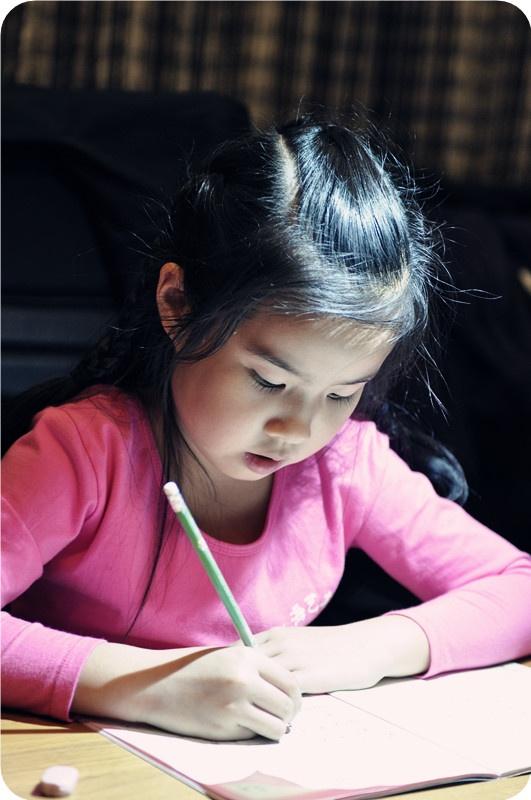 认真学习的孩子是最可爱的