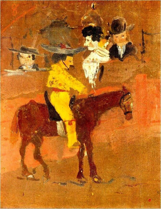 毕加索作品1 1889 1900 1 高清图片