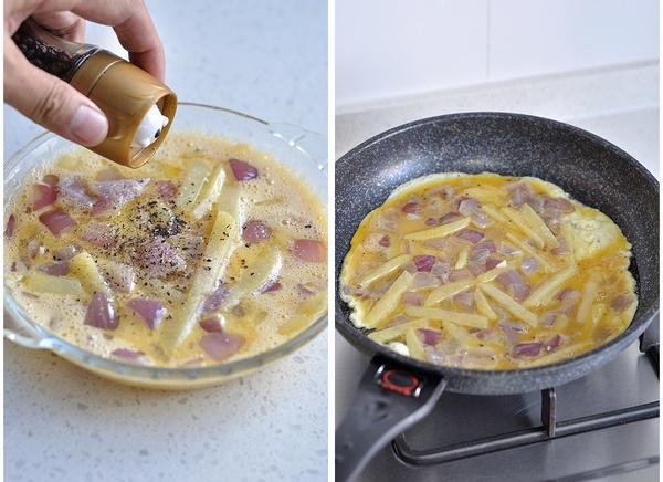黑胡椒土豆鸡蛋饼的做法