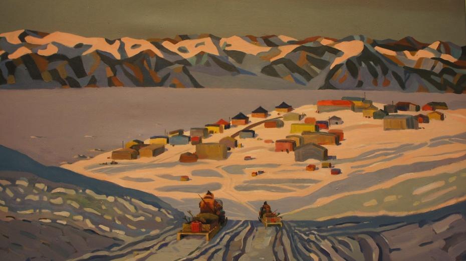 陪女儿走进中国美术馆:风景油画 - 余昌国 - 我的博客