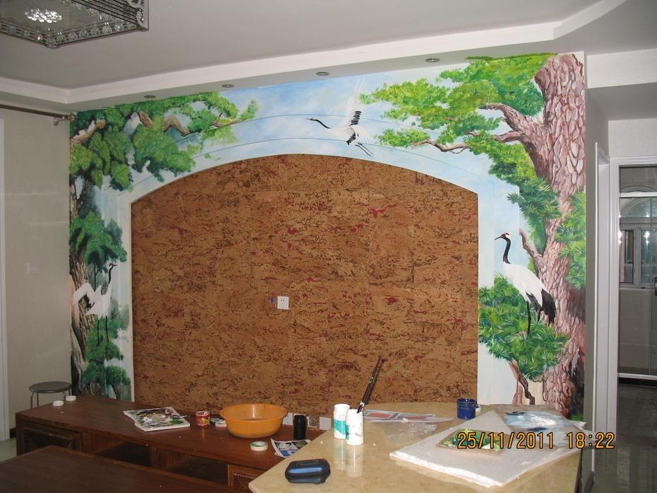 新疆乌鲁木齐手绘墙手绘背景墙