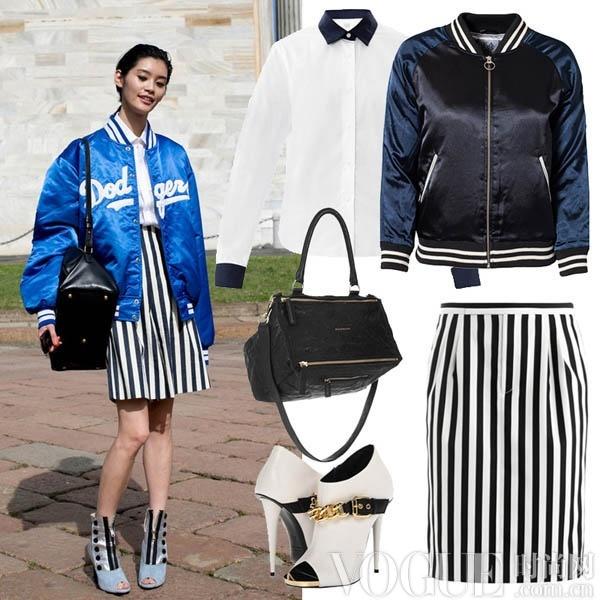 经典棒球夹克 4式时髦新搭 - VOGUE时尚网 - VOGUE时尚网