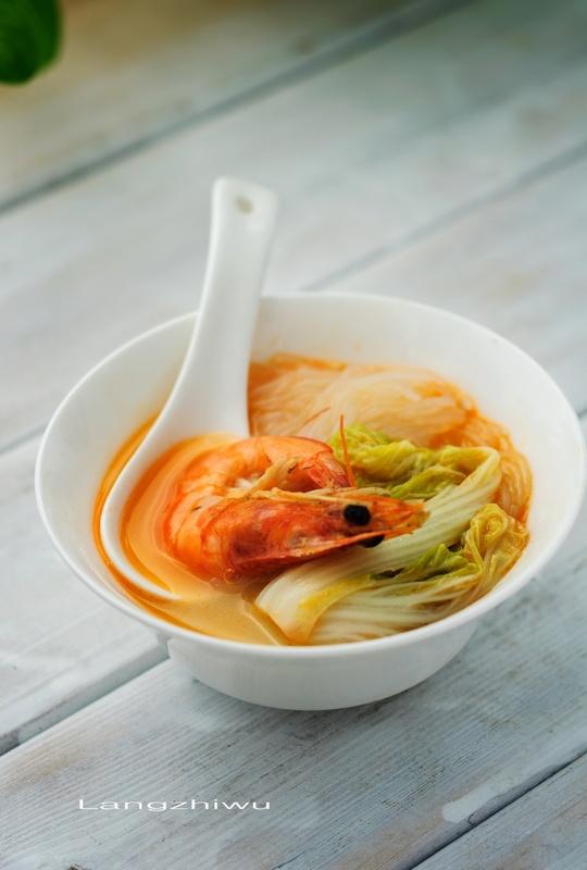 砂锅鲜虾粉丝 - 慢美食 - 慢 美 食