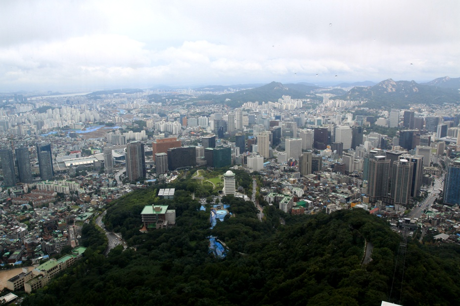 高清城市风景图韩国南山塔