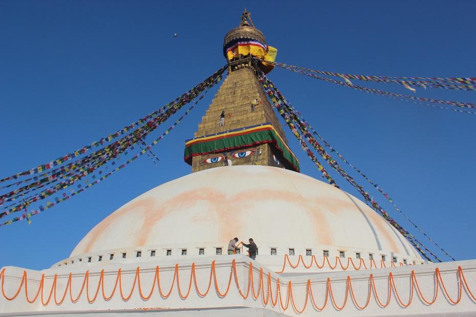 尼泊尔六:世界最大圆佛塔——博达哈及