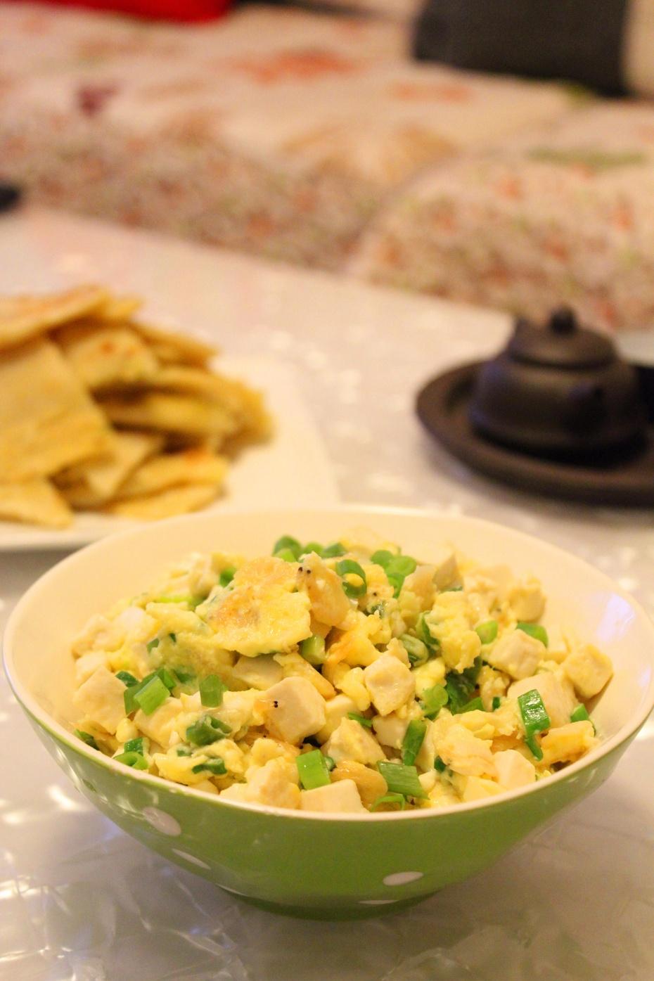 虾皮炒鸡蛋豆腐:小清新小鲜美 - 慢美食 - 慢 美 食