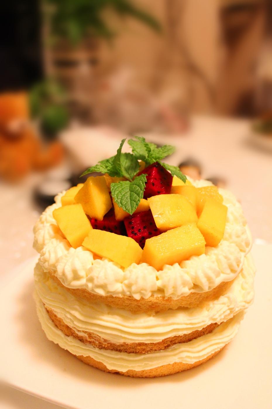 水果裸蛋糕:简约的美味