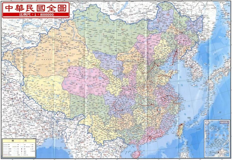 中国地图的历史变迁