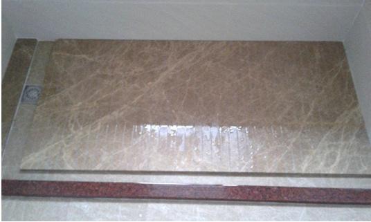 卫生间装修淋浴房大理石地面预留走水槽设计施工