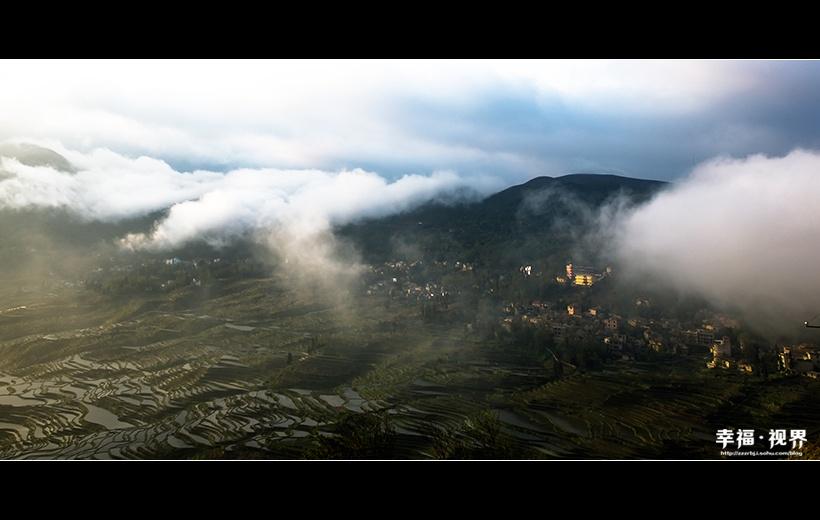 元阳梯田:霞光普照哀牢山 云雾萦绕醉梯田 - 余昌国 - 我的博客