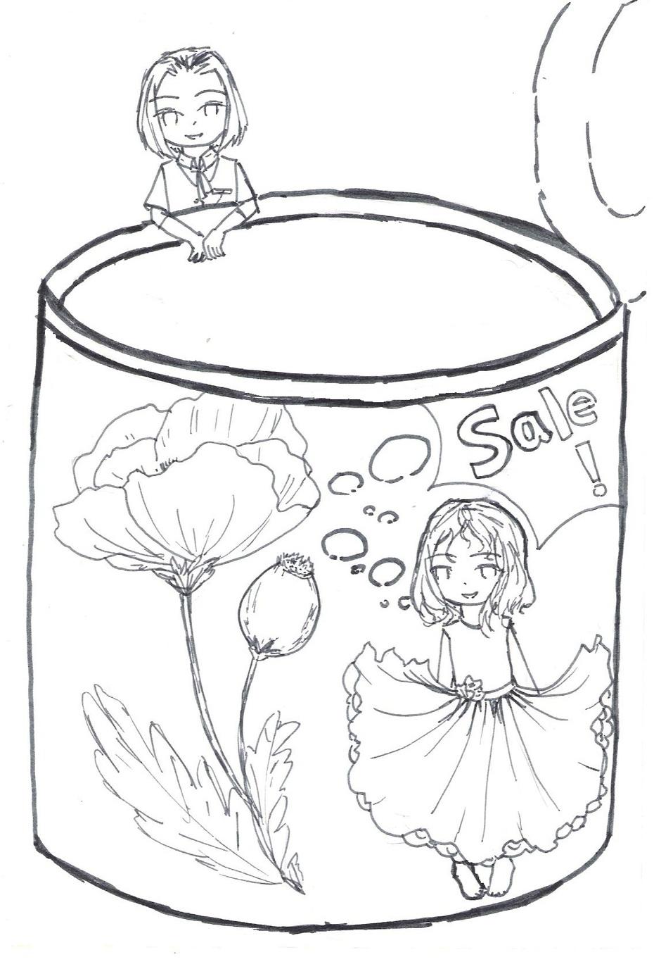罂粟简笔画