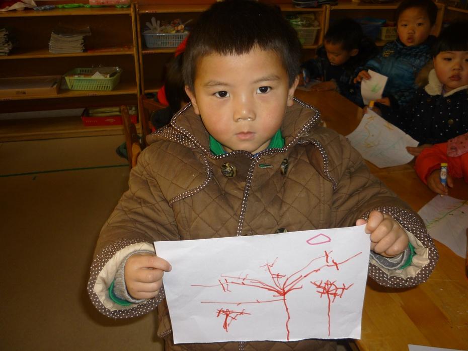绘画,冬天的树-欧洲花园幼儿园小五班的博客-搜狐博客