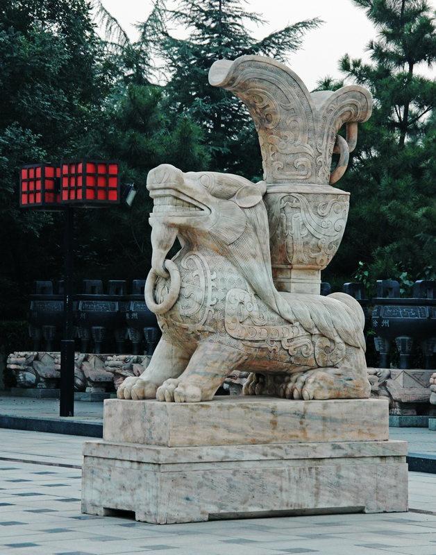 尧都广场观落日,雄伟瑰丽赏华门--山西黄河行之二 - 侠义客 - 伊大成 的博客