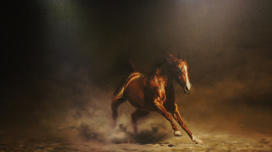 新疆野马艺术馆:万马奔腾 - 余昌国 - 我的博客