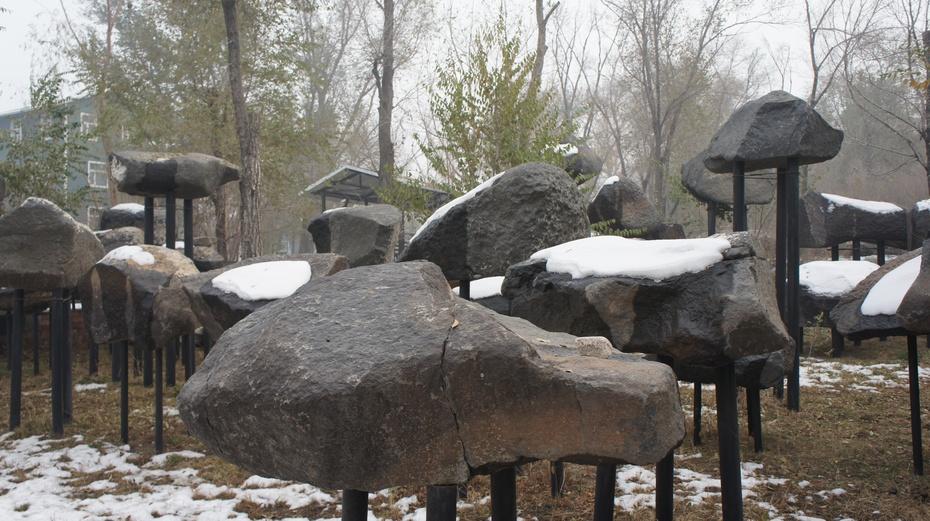 新疆野马古生态园:壮观陨石群 - 余昌国 - 我的博客