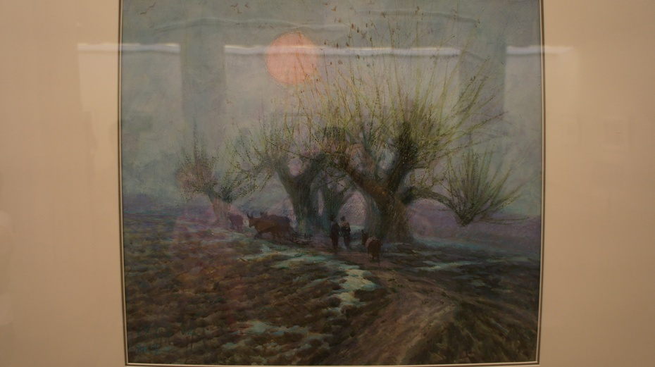 陪女儿走进中国美术馆:水彩风景画 - 余昌国 - 我的博客