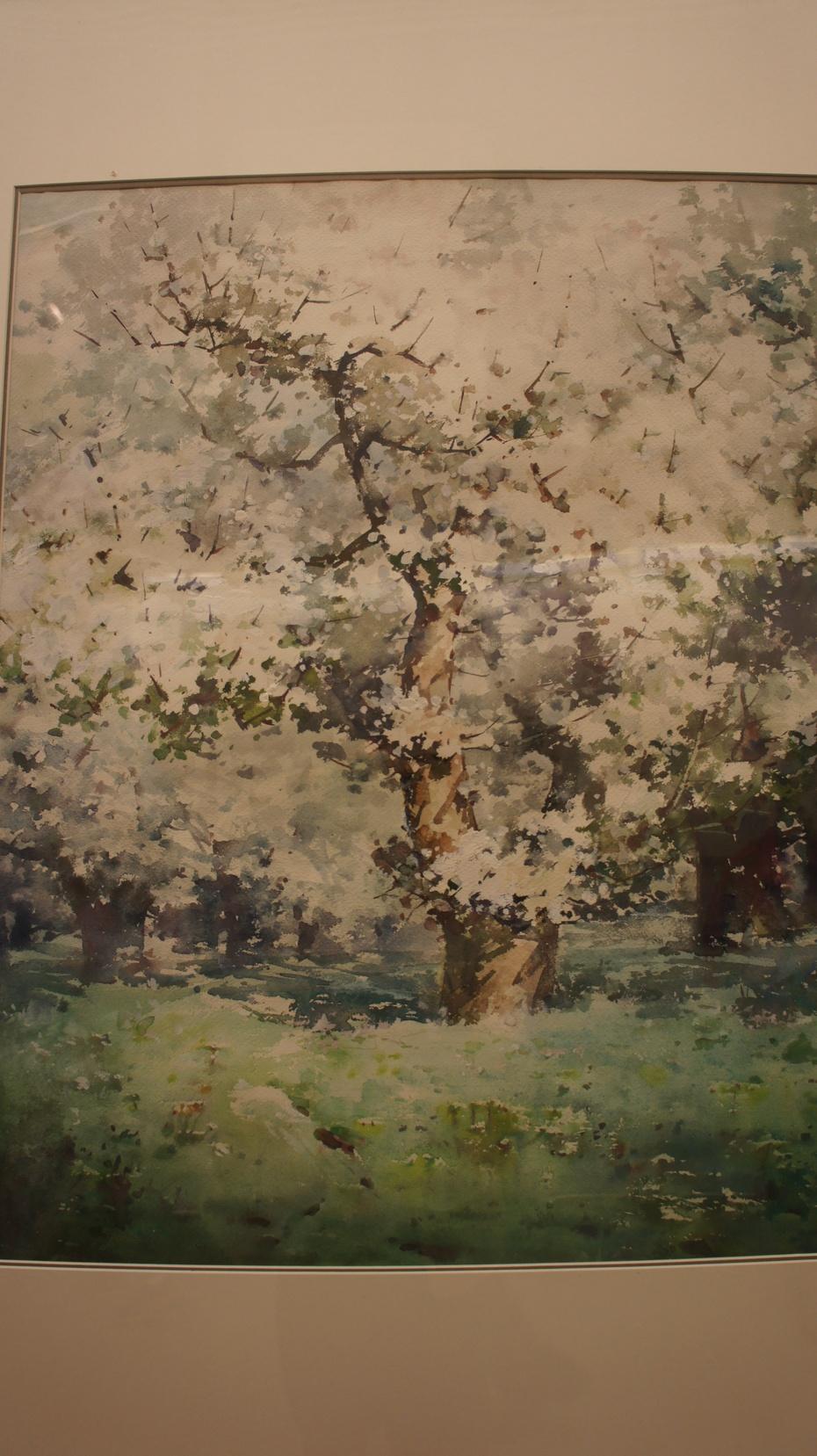 陪女儿走进中国美术馆:水彩风景画