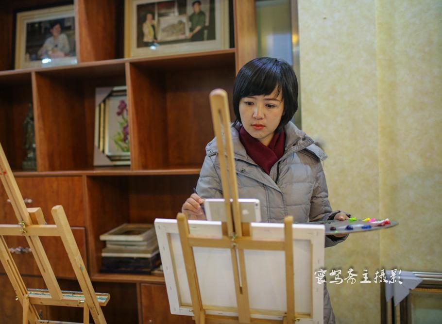 """【青岛西海】在绿泽画院过一把""""画家""""瘾 - 海军航空兵 - 海军航空兵"""