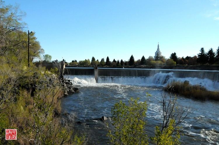 美国行之四十八—北美最宽的爱达荷瀑布 - 余昌国 - 我的博客