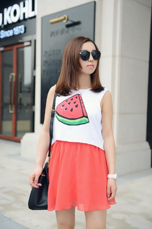 【小一】夏季穿个性水果,闺蜜装Look - 小一 - 袁一诺vivian