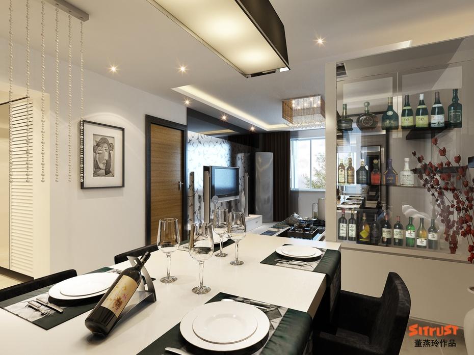国仕山-餐厅设计图高清图片
