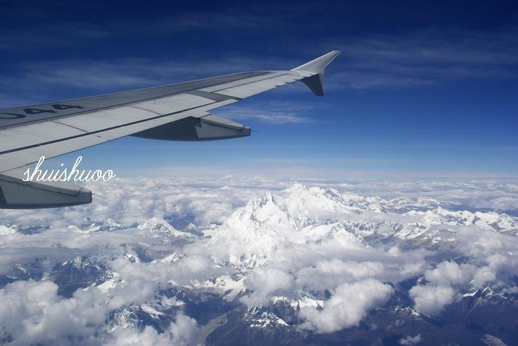 我们这次在飞机上看到了喜马拉雅山和珠峰