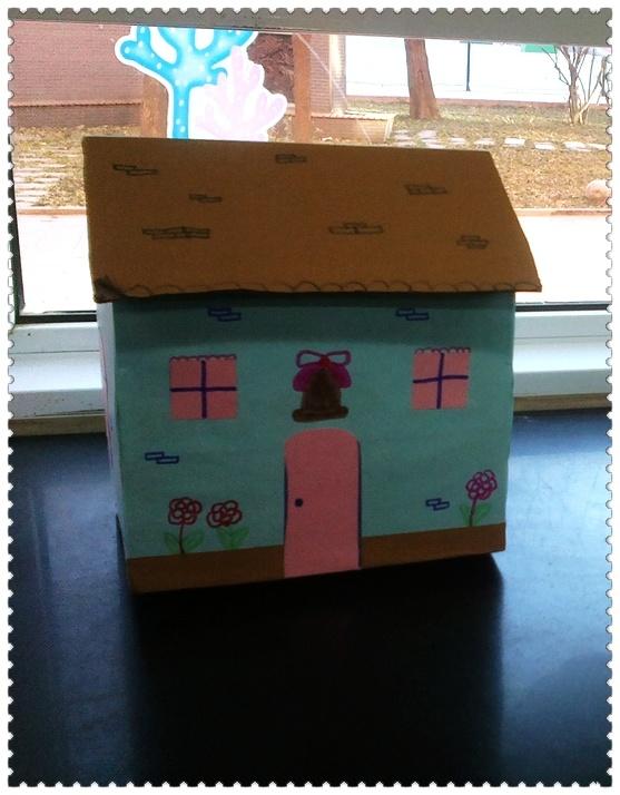 纸盒房子手工制作