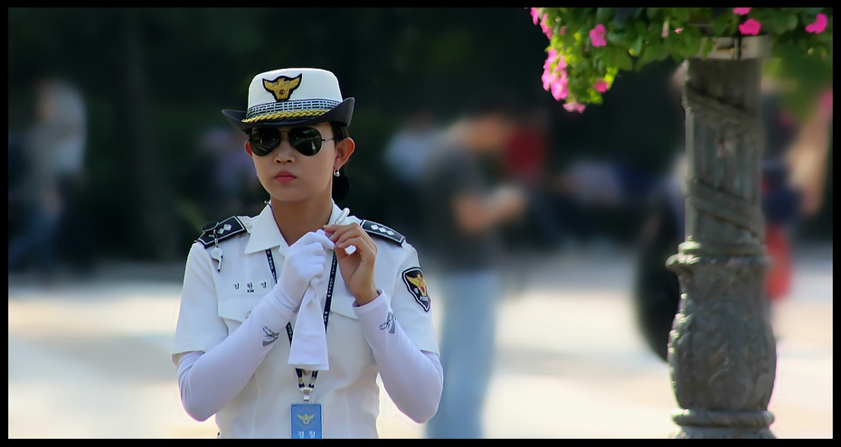 韩国女警察图片