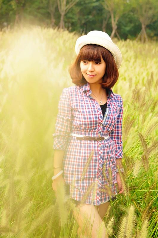 【小一】暖暖的一米阳光,初冬休闲格子系 - 小一 - 袁一诺vivian