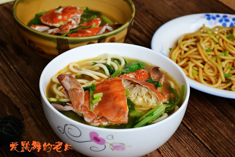 梭子蟹青菜汤面 - 慢美食 - 慢 美 食