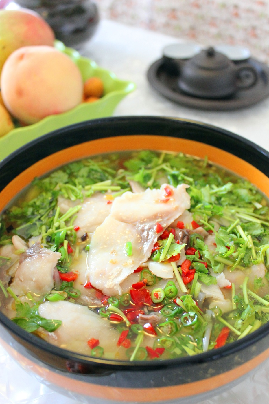 酸辣却清爽的黄椒酸汤鱼片 - 慢美食 - 慢 美 食