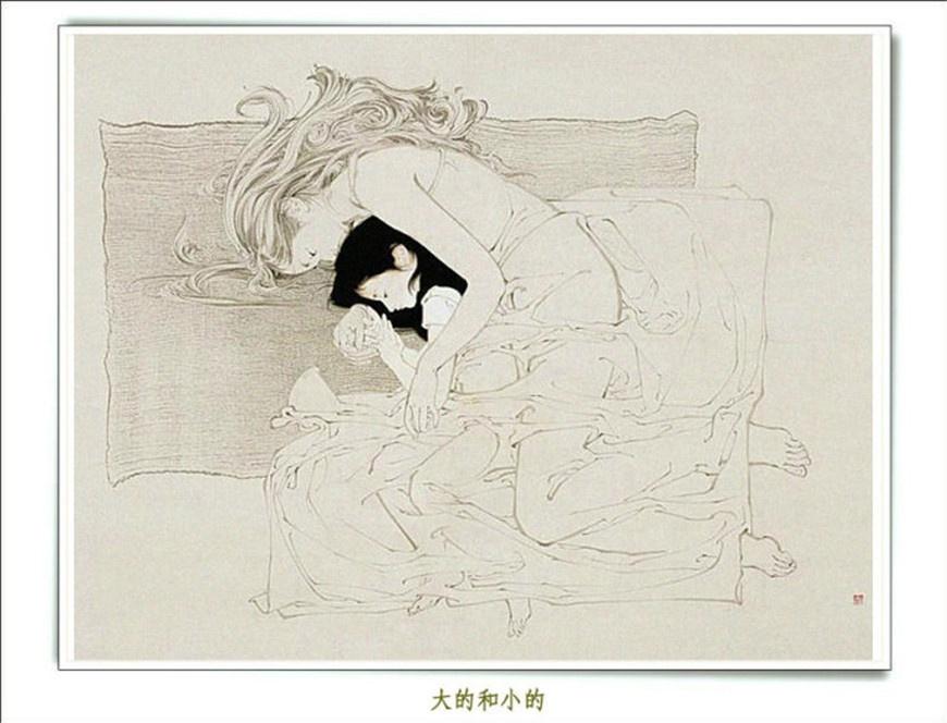 罗寒蕾工笔人物画欣赏