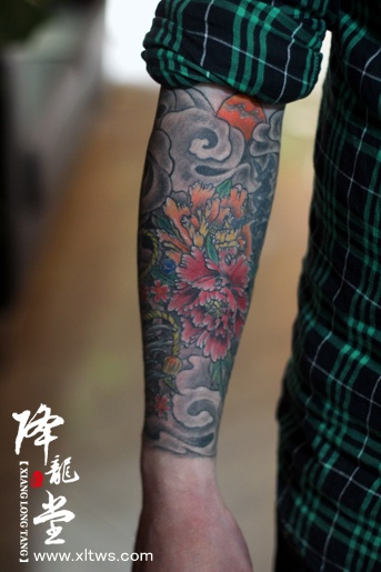 中山纹身-【包小臂般若花臂纹身】