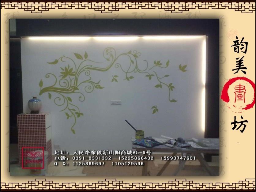 焦作墙画手绘墙焦作墙体彩绘-焦作油画无框画的空间