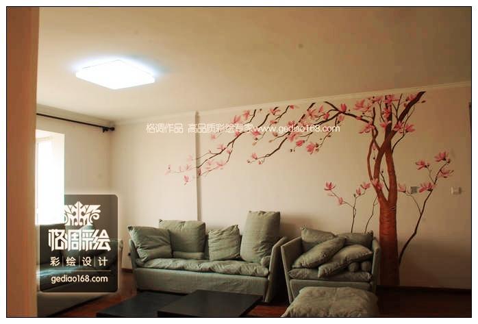 玉兰树(丰庆苑)——西安手绘墙